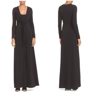 NWT Alice + Olivia 'Salina' Plunging Maxi Dress